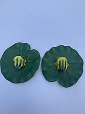 Декор для водоема- лягушка на листе кувшинки., фото 3