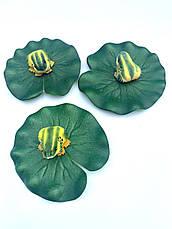 Декор для водоема- лягушка на листе кувшинки., фото 2
