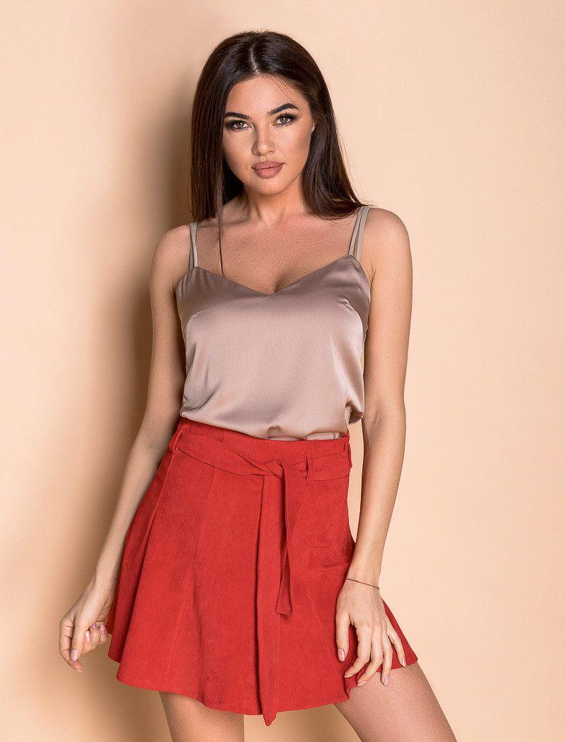 Купить Великолепная юбка-мини красного цвета 40 размера