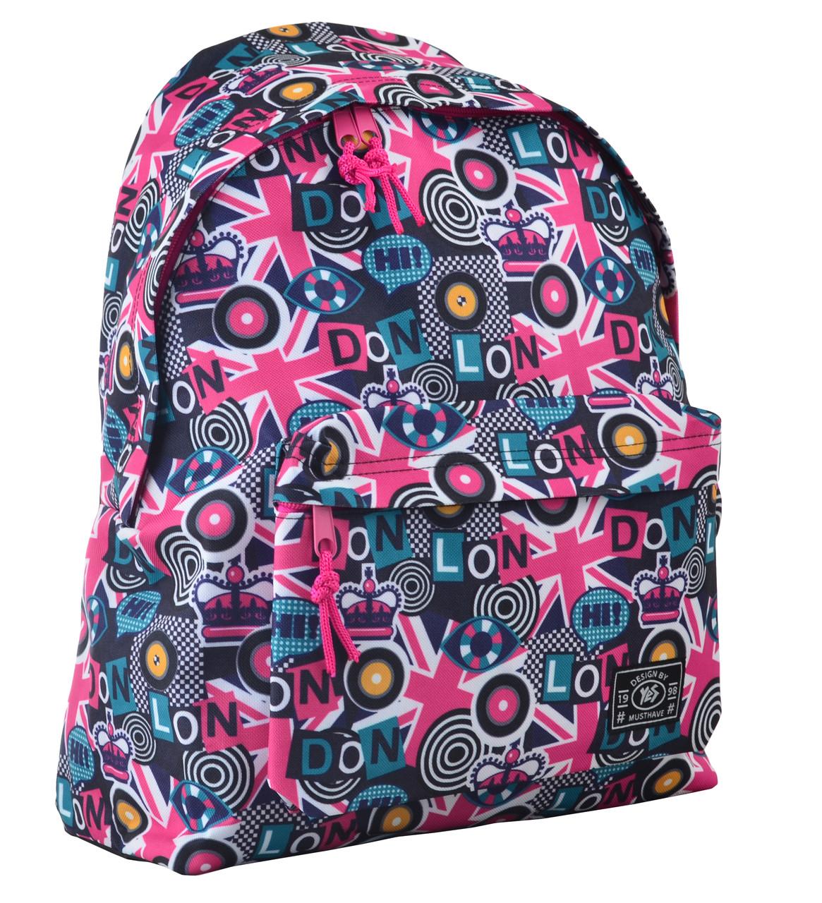 Рюкзак городской прогулочный YES ST-17 Crazy London 42*32*12 код: 554990