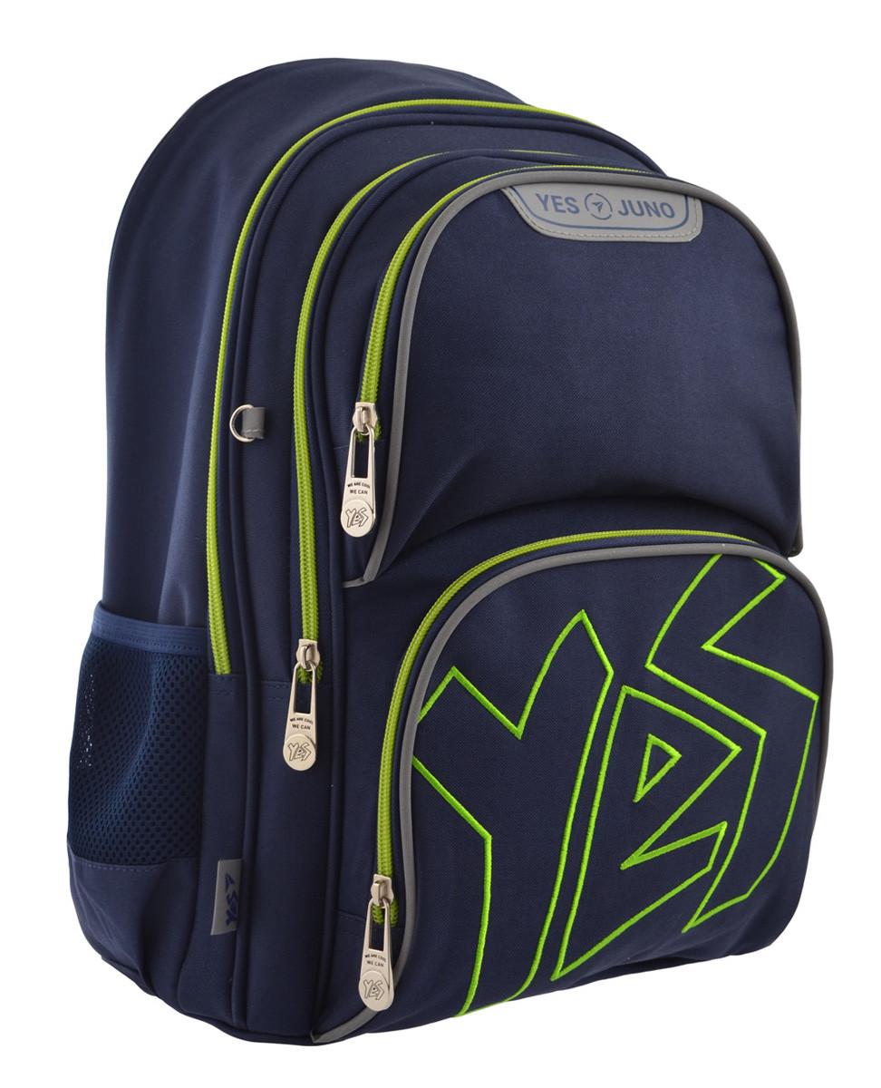 Рюкзак школьный ортопедический YES S-30 Juno YES green код: 557366