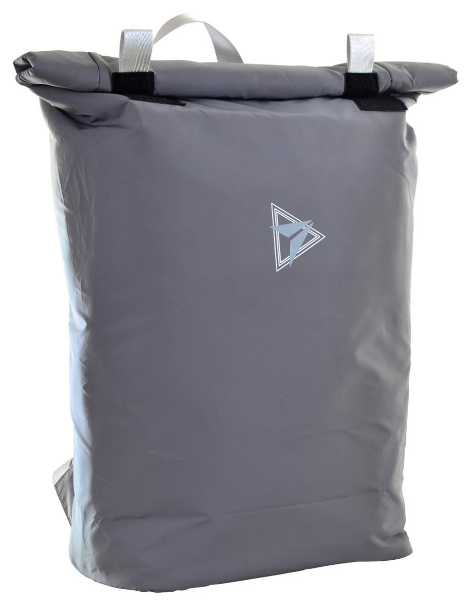 Рюкзак городской светоотражающий YES Roll-top T-65 Reflective Grey код: 557490