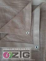 Сетка усиленная 85% 3х5м, с люверсами и с тесьмой, цвет бежевый, фото 1