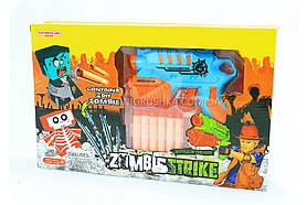 Дитячий пістолет з м'якими патронами «Мисливець на зомбі» (мішень, 6 патронів)