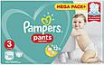 Підгузки-трусики Pampers Pants 3 (6-11кг), 120шт, фото 3