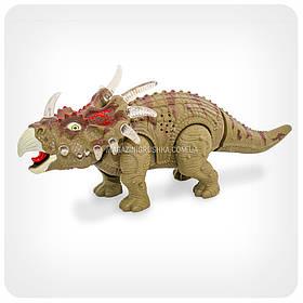 Динозавр «Triceratips» (ходит, издает реалистические звуки, свет)