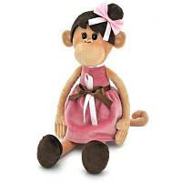 Мягкая игрушка ORANGE Обезьянка Мила в платье с прической, 45 см (OS105/28)