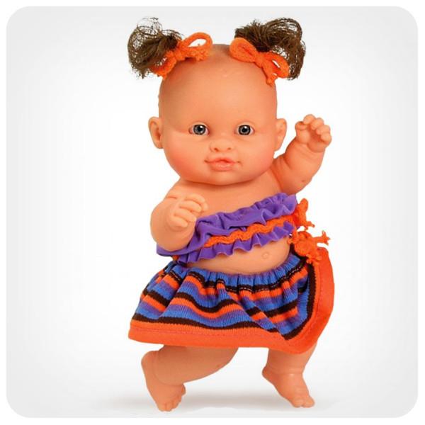 Кукла серии «Пупсы-малыши» - Кукла-пупс девочка в оранжевом
