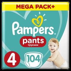 Підгузки-трусики Pampers Pants 4 (9-15кг), 104шт