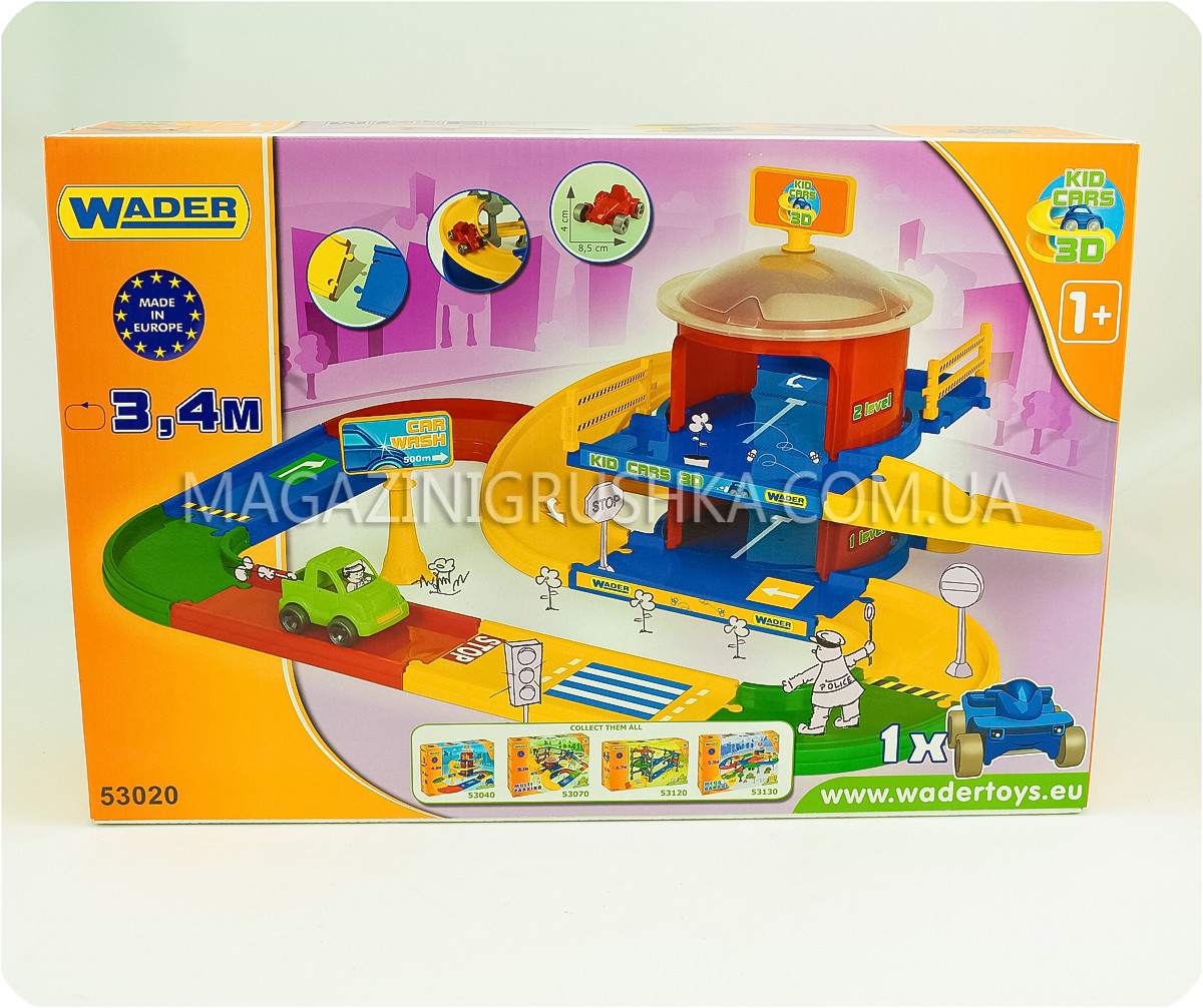 Парковка детская «Kid cars 3D» - (трасса, 2 этажа, машинка)