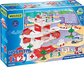 Парковка дитяча «Госпіталь Kid cars 3D» - (траса, 2 поверхи, машинка)