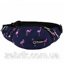 Бананка детская, сумка на пояс детская, сумка через плечо детская  TIGER Фламинго