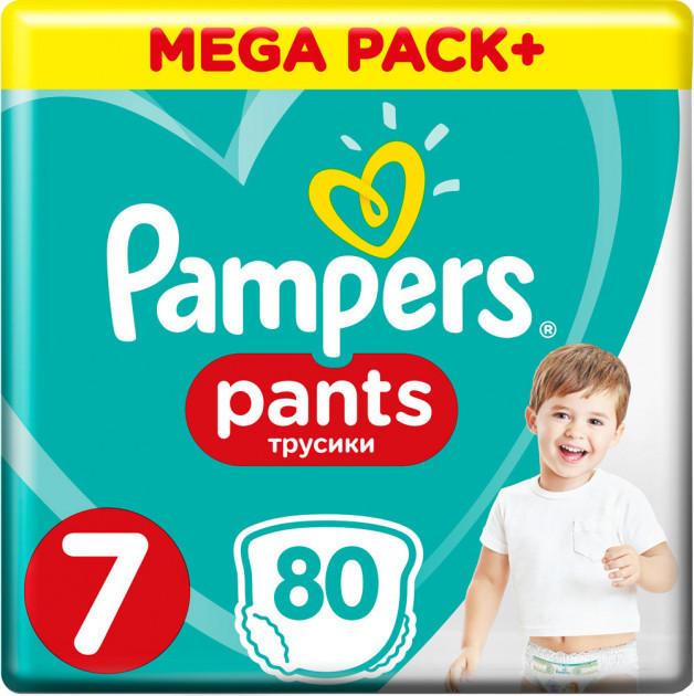Підгузки-трусики Pampers Pants 7 (17кг+), 80шт