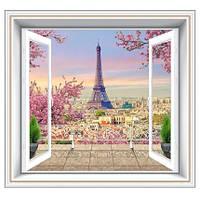 Фотообои, Париж, город, За окном Париж размер 196смХ210м, 12 листов