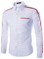 Мужская рубашка Белая с полосками, фото 1
