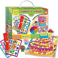 Развивающая настольная игра для детей «Учимся-играем» 1600-04, фото 1