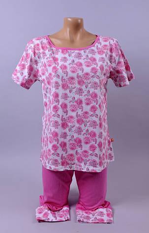 Жіноча піжама  С+3  100 S рожевий, фото 2