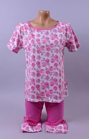 Жіноча піжама С+3  100 M рожевий, фото 2