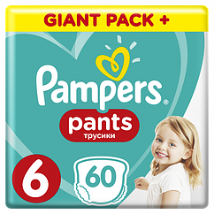 Підгузки-трусики Pampers Pants 6 (15+кг), 60шт