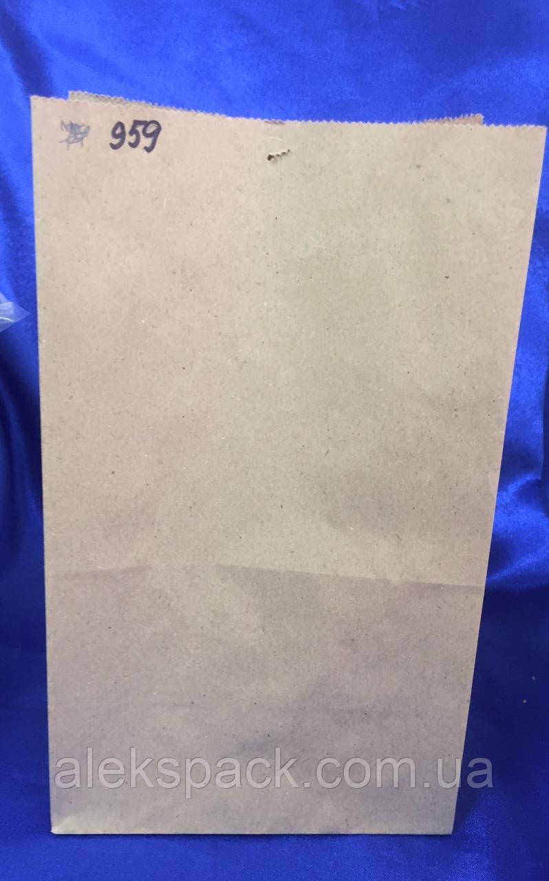 Паперовий пакет без ручок бурий крафт 280*170*120 мм