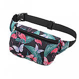 Бананка детская, сумка на пояс детская, сумка через плечо детская TIGER Ficsi Фламинго, фото 2