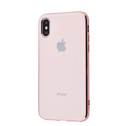 Чехол накладка Crystal для Iphone X\Xs Розовый, фото 2