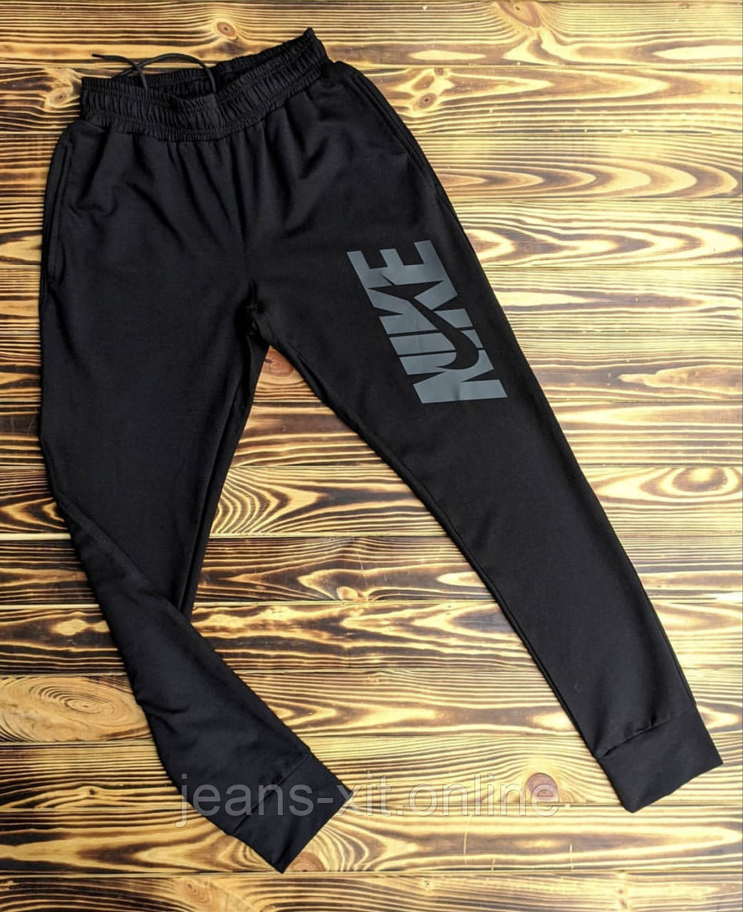 Брюки мужские 2XL(р) черные 002-1-20 Nike Турция Весна-C