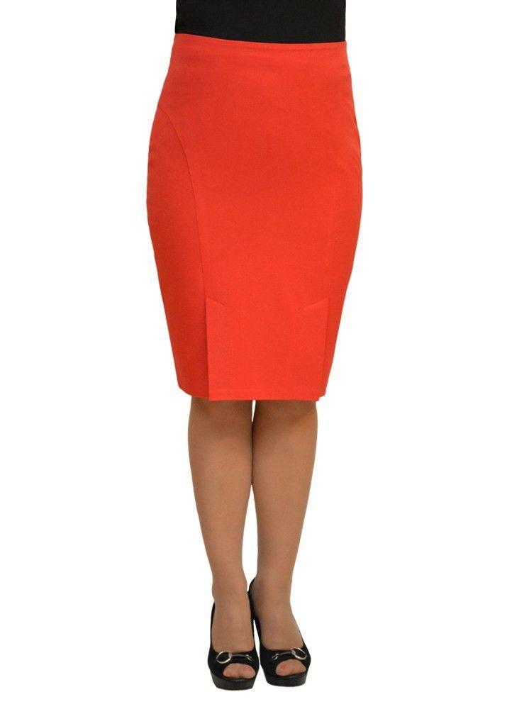 Купить Стильная облегающая юбка красного цвета 44 размера