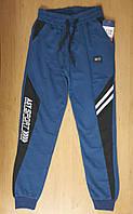 Трикотажные подростковые спортивные штаны на манжете для мальчика, р.164