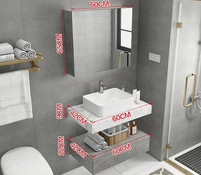 Комплект мебели для ванной с зеркалом. Модель RD-451.