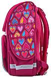 Рюкзак школьный ортопедический каркасный Smart PG-11 Hearts Style код: 555920, фото 2