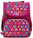 Рюкзак школьный ортопедический каркасный Smart PG-11 Hearts Style код: 555920, фото 3