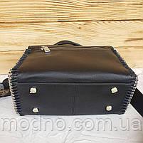 Жіноча шкіряна сумка бочонок з двома ремінцями Polina & Eiterou, фото 9