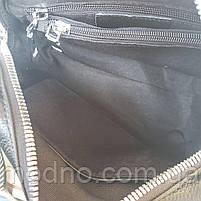 Жіноча шкіряна сумка бочонок з двома ремінцями Polina & Eiterou, фото 10