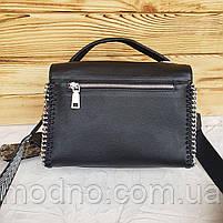 Жіноча шкіряна сумка бочонок з двома ремінцями Polina & Eiterou, фото 8
