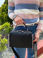 Жіноча шкіряна сумка бочонок з двома ремінцями Polina & Eiterou, фото 2