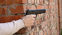 Игрушечный пистолет ZM22 с пульками . Детское оружие с металлическим корпусом с дальностью стельбы 15-20м, фото 4