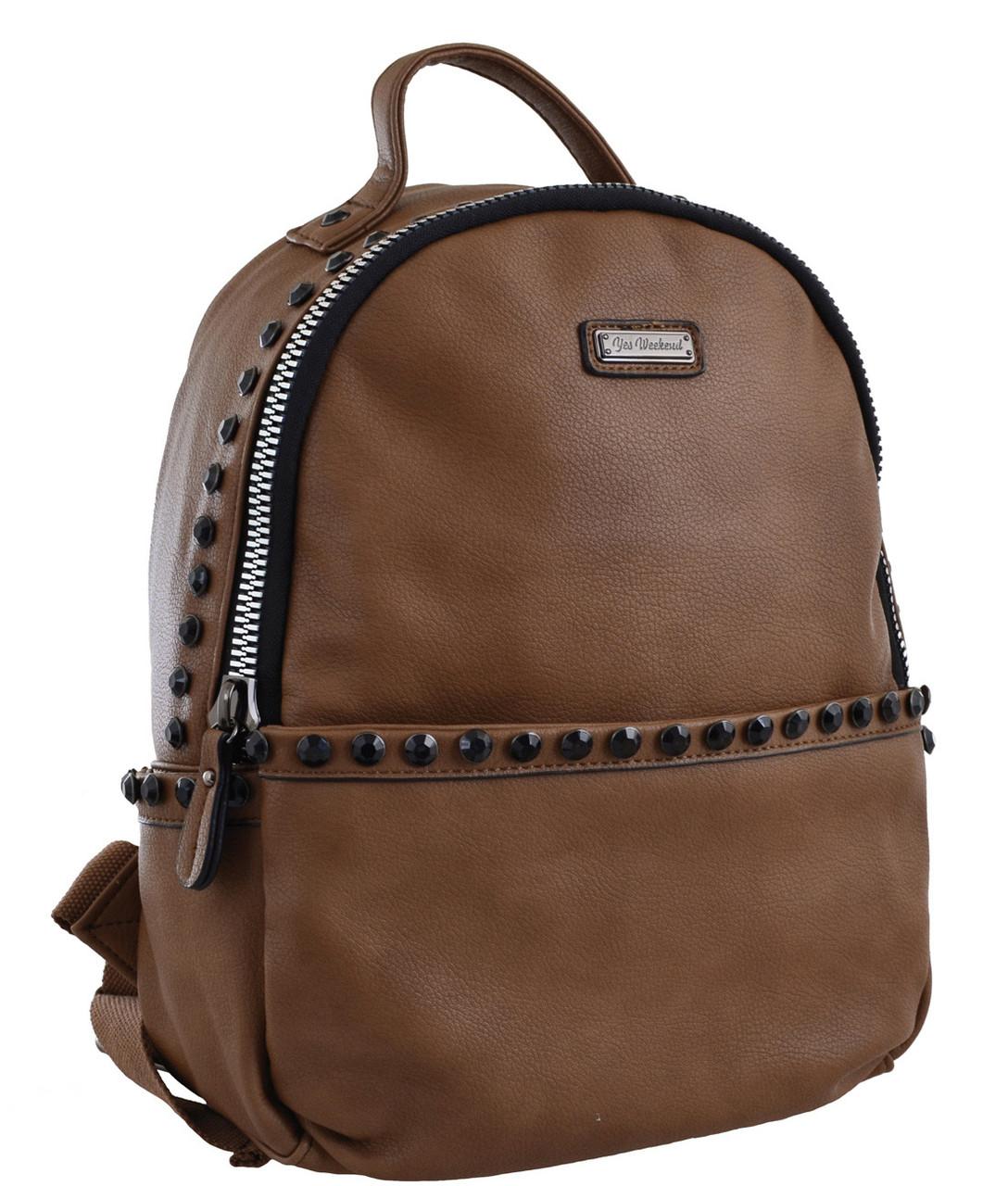 Рюкзак женский YES YW-15, светло-коричневый , код: 556948