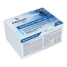 """Средство для устранения мутности воды в картушах Froggy """"SetiFlock Tabs 25"""" 1 кг (коагулянт)"""