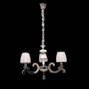 Современная классическая люстра на 3 лампочки СветМира с LED подсветкой рожков  LS-9427/3