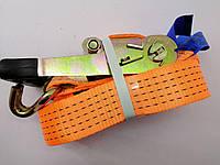 Стяжка груза, 5t. 50mm.x10m.(0.5+9.5) прорезин. ручка