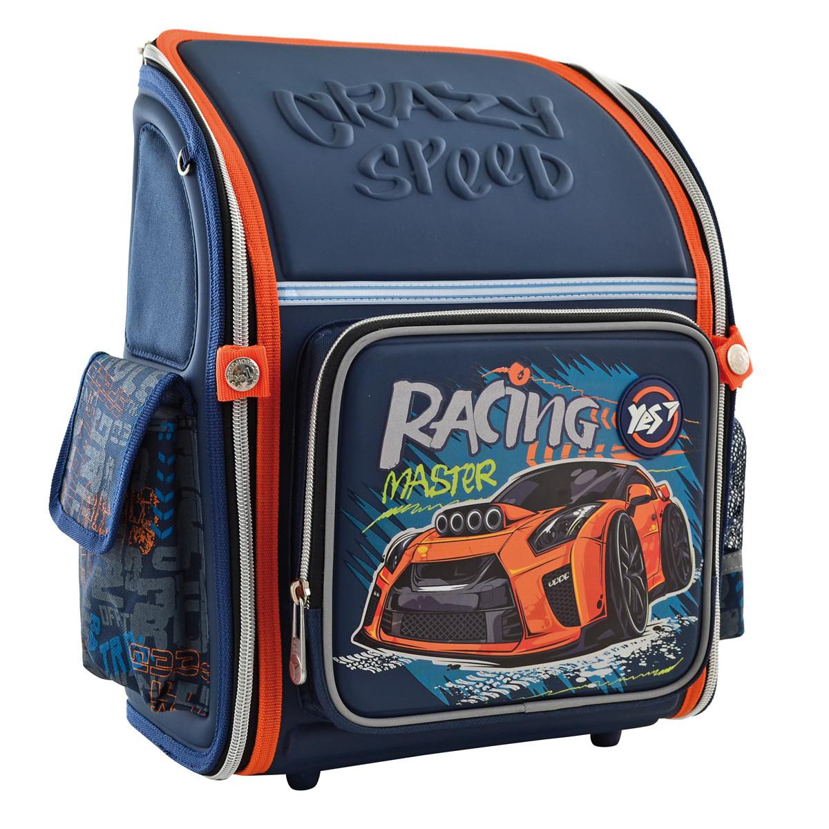 Рюкзак школьный ортопедический каркасный YES H-18 Racing код: 556321