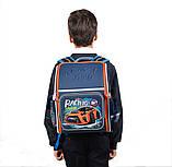 Рюкзак школьный ортопедический каркасный YES H-18 Racing код: 556321, фото 4