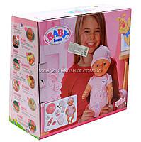 Интерактивная кукла Baby Born (беби бон). Пупс аналог с одеждой и аксессуарами 9 функций беби борн BB 8009-440, фото 3