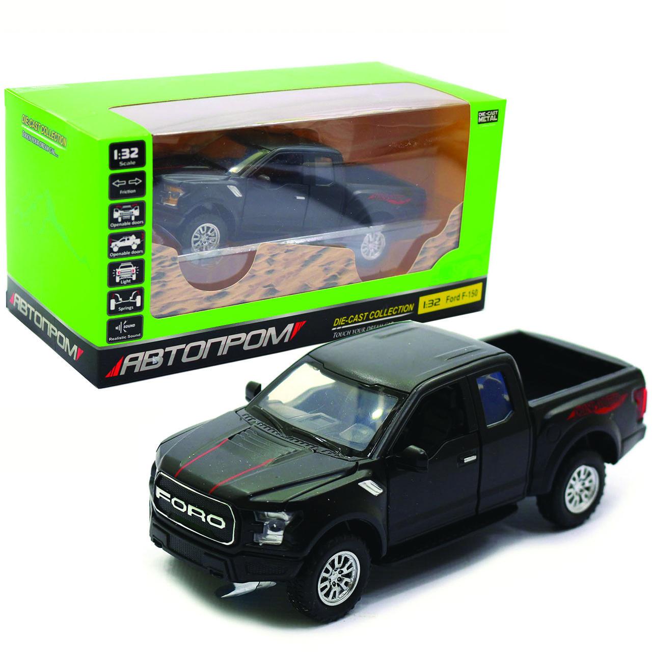 Машинка інерційна Автопром «Ford F-150» Чорний зі світловими і звуковими ефектами (7864)