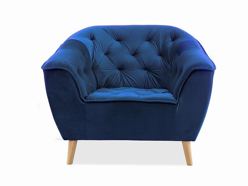 Крісло GALAXY 1 VELVET синій (Signal)