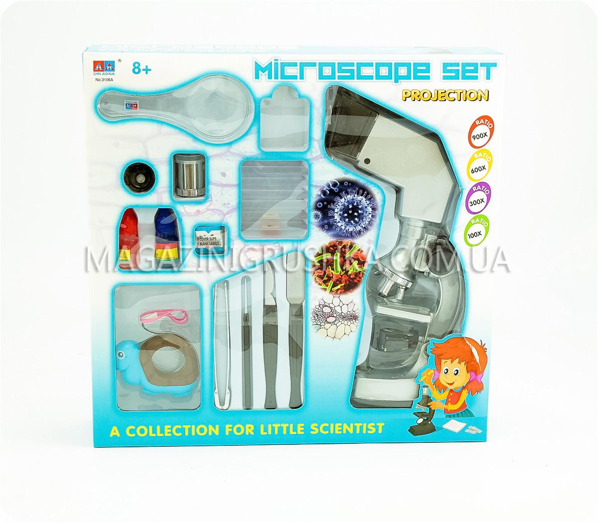 Микроскоп детский с подсветкой и проектором 3106A