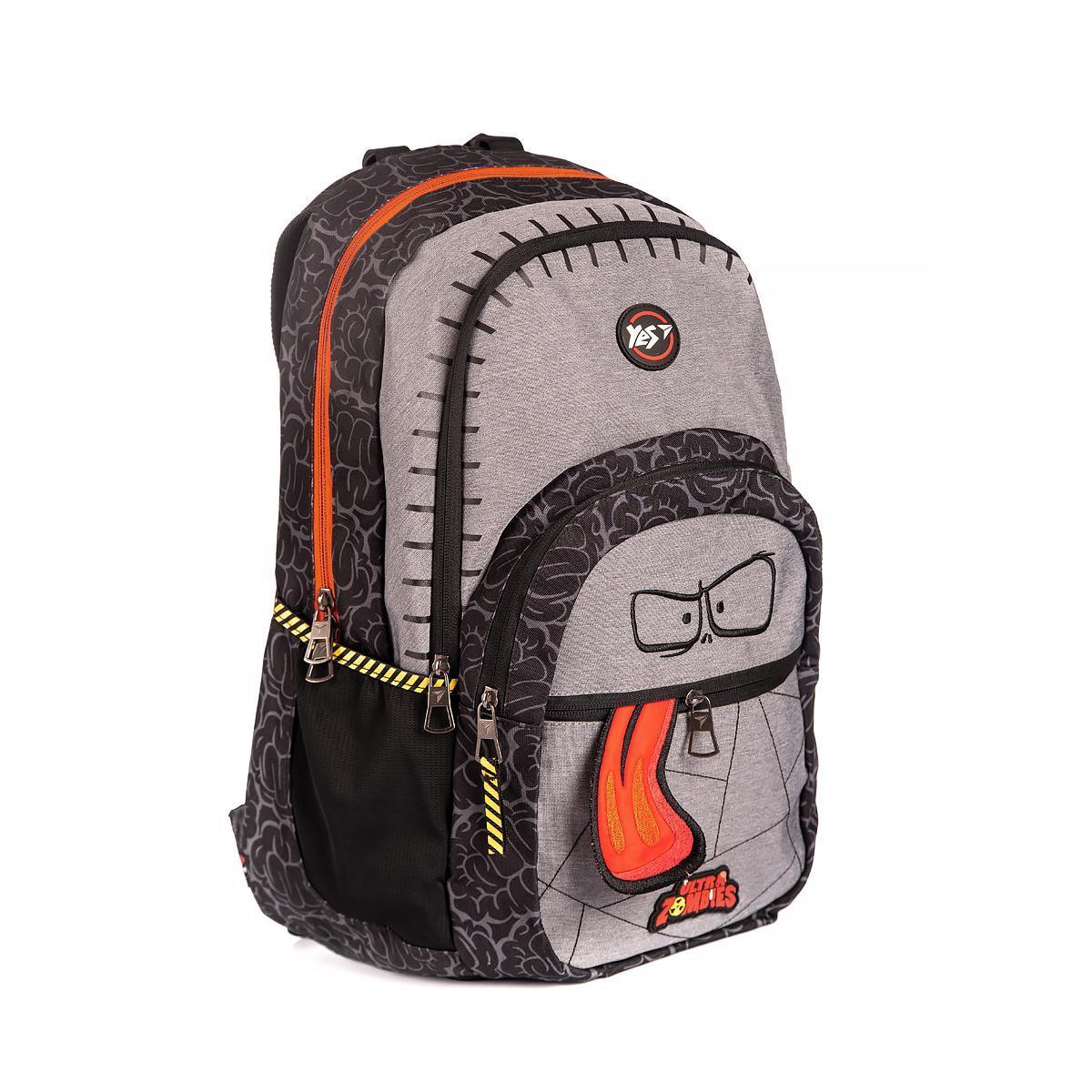 """Рюкзак молодежный YES T-85 """"Zombie"""", серый , код: 558284"""