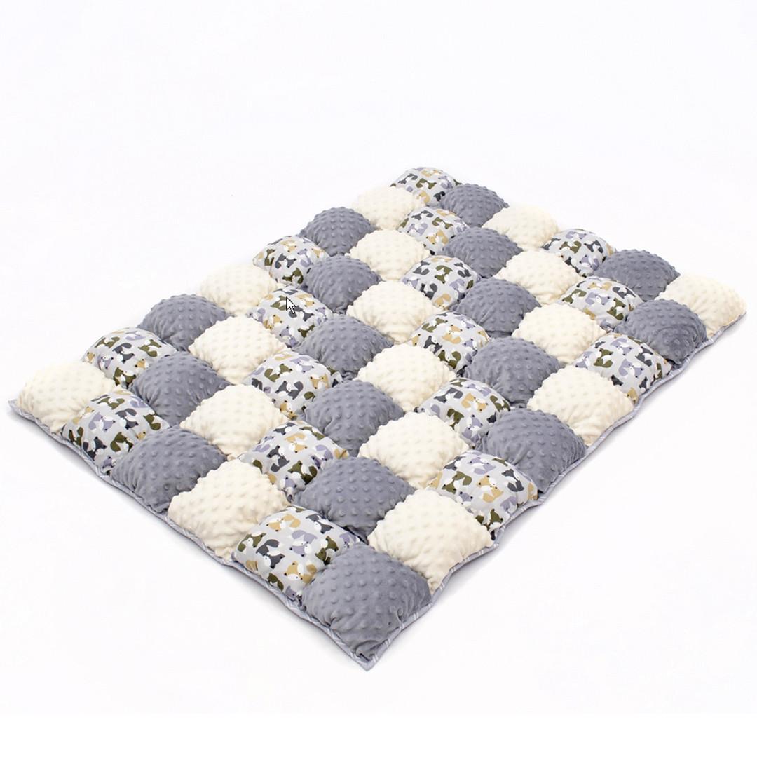 Детское одеяло для малышей 0-2 года, 120х85, серый/бежевый
