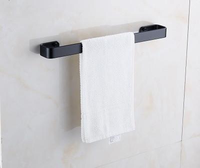 Вешалка для полотенец черная в ванную комнату. Модель 3-101